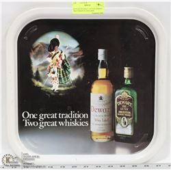 DEWARS WHISKEY ADVERTISMENT TRAY MADE IN ENGLAND