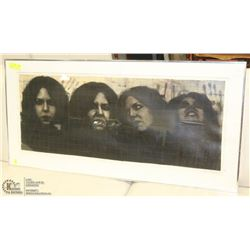 FRAMED SIGNED 3 FACE PRINT BY CHRISTINE B II.