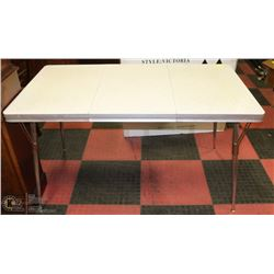 "VINTAGE KITCHEN TABLE 29""X53"" WITH EXTENSION IN"
