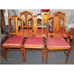 GROUP OF 6 VINTAGE DINING CHAIRS