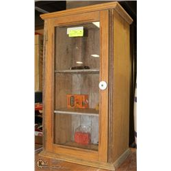ANTIQUE GENERAL STORE DISPLAY CABINET.