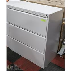 3 DRAWER FILING CABINET NO KEYS