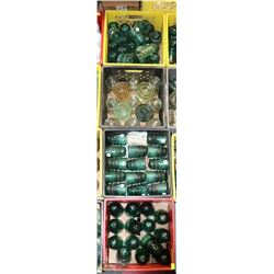 4 CRATES OF ASSORTED VINTAGE INSULATORS ON CHOICE