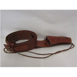 Leather Revolver Holster and Belt