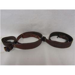 Three Leather Gun Slings