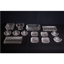 Crystal glassware for 14 pieces