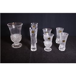 Crystal glasses for 7 pieces.
