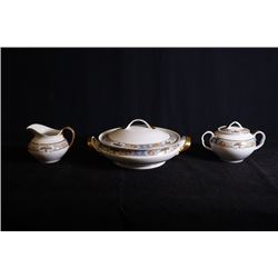 Crown Imperial Czechoslovakia porcelain tableware for 3 pieces