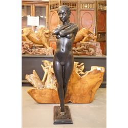 "A ""Girl"" Bronze Sculpture, Signed by Leonardo Rossi"