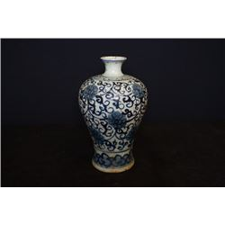 "A Blue-and-White ""Floral"" Vase(Meiping)."