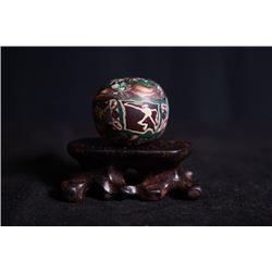 A Large Twistable-Glazed Bead Decoration