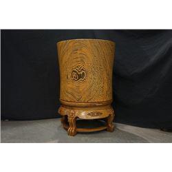 Wenge Jar with Rotatable Base.