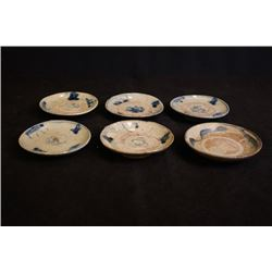 "Qing Dynasty, a set of Six ""Chun"" Mark Blue-and-White Small Dishes."