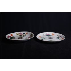 "Two Small Republican Era ""Floral"" Plates"