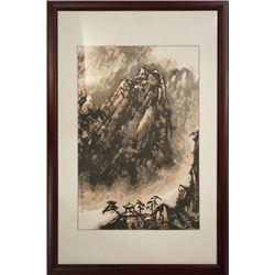 """A Chinese Ink Painting """"Shan Jing Yuan Tiao Tu"""""""