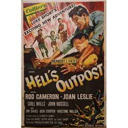 A poster for the movie Hell's Outpost