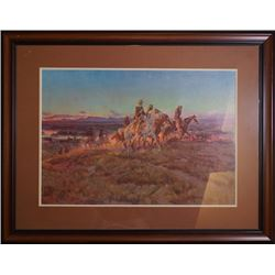 An America Western style decoration painting