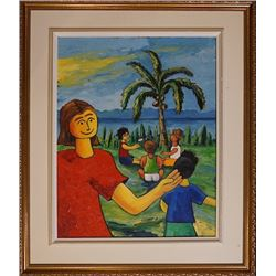 G.Grgmon creation, Hawaii style oil painting