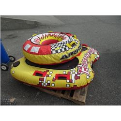 2 Towable Inflatable Float Tubes
