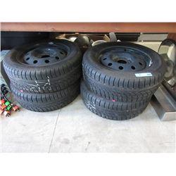 4 Hankook 205/60R15 Mud & Snow Tire's on Rims