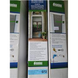 Genius Retractable Screen Door - 78.5in x 80.5 in