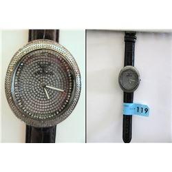 Men's New Diamond Watch Set with 6 Diamonds
