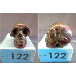 280 CT Hand Carved Dragon's Blood Jasper Skull