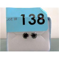 New Sterling Silver Blue Sapphire Stud Earrings