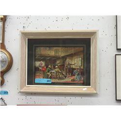 """Framed N. Doveston Print """"The Traveler's Tale"""""""