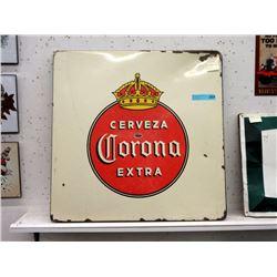 Vintage Porcelain Corona Sign