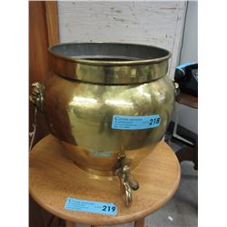 Vintage Brass Planter with Tap