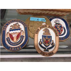 4 Replica Ship Plaques
