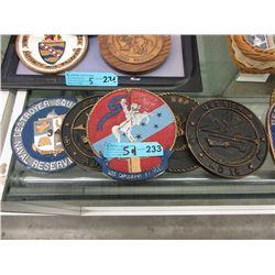 """5 Replica Ship Plaques - 6"""" Diameter"""