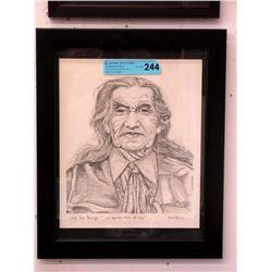 Marie Stoney Print of Chief Dan George