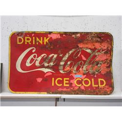Vintage Sheet Metal Coca-Cola Sign