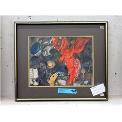 """Framed Marc Chagall Print """"Fall of the Angel"""""""