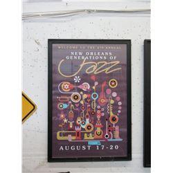 Framed New Orleans Jazz Festival Poster