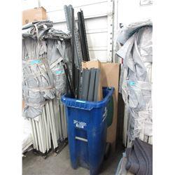 Metal Shelf Parts in Rolling Recycle Bin