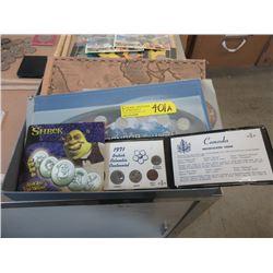 2 Millennium Quarter Sets & 1971 Canadian Coin Set