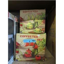 9 New Coffee/Tea Sets