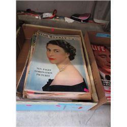 Box of Assorted Vintage Magazines