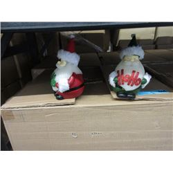 """2 Cases of New 6"""" Wax Santa Candle Sets"""