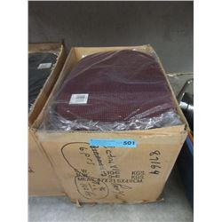 Case of New Non Slip Plastic Placemats - Maroon