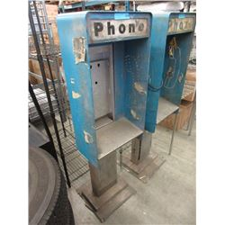 Vintage Metal Sidewalk Phone Booth - No Phone