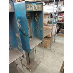 Vintage Metal Sidewalk Phone Booth - No Phone