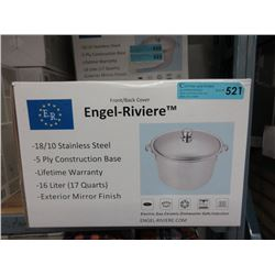 New 16 L 18/10 Stainless Steel Stock Pot
