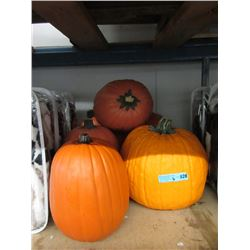 6 Large Pumpkin Decorations