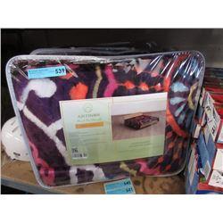 2 New Queen Size Purple Sherpa Blankets