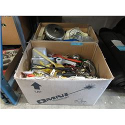 2 Boxes of Assorted Household Kitchen Goods