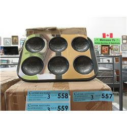 3 Cases of New Soccer Muffin/Cake Tins
